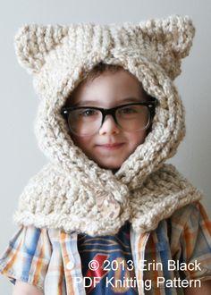 ErinBlacksDesigns : Knitting PATTERN - Chunky Kitty Hood | Sumally (サマリー)