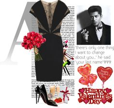"""Happy Valentines Day everyone :*"" by stephanieleticia ❤ liked on Polyvore"