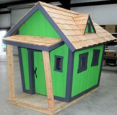Crooked playhouse building plans woodworking projects for Crooked house plans