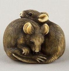 Okatori | Netsuke of Two Rats | Japan | The Met. Nineteenth century