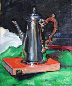 Coffee Pot  45cm x 55cm approxOil on canvas £650contact about availability