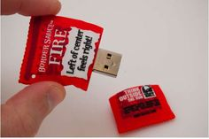 The Taco Bell Border Sauce USB Drive Thinks Outside the Bun #Pop Culture trendhunter.com