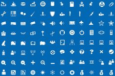 1,500 Vector Glyph Icons by Mister Pixel on Creative Market