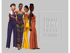 The Sims 4 Summer Jumpsuit Collection by saurussims