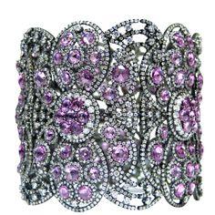 Diamond and Pink Sapphire Bangle