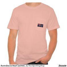 Australian in Heart & Kidneys, #Australia Men's American Apparel Pocket T-Shirt
