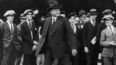 A photograph taken during the 1930′s shows President Herbert Hoover pitching a baseball. President Hoover was often showered with boos. (Pic...