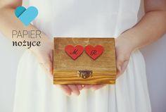 "Personalizowane pudełko na obrączki wzór ""Red LOVE II"" Red, Paper, Rouge"