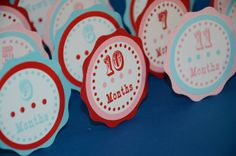 First Year Photo Clips First Year Banner Circus by lisamarDesigns, $12.00