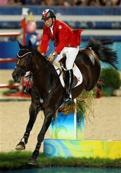 """""""You are a great champion. When you ran, the ground shook, the sky opened and mere mortals parted. Parted the way to victory, where you'll meet me in the winner's circle, where I'll put a blanket of flowers on your back.""""  RIP Hickstead"""