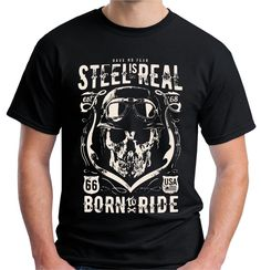 Velocitee Speed Shop Mens Polo Shirt Shut Up And Ride Biker Twin /& Skull A20309