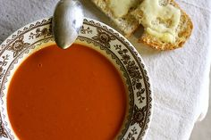 Creamy Tomato Soup from Joy the Baker. Rainbow Delicious Meal Plan Fall Week 9.