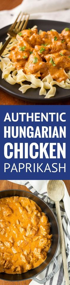 Chicken Paprikash - authentic Hungarian chicken paprikash using traditional Hungarian sweet paprika… Also known as Chicken Paprika.