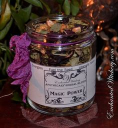 Apothecary Herbal Blend - MAGIC POWER - Heighten Energies, Fuel the Spell, Intensify Focus, Fire up the Magick