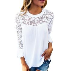 390b161179076 30 Best White lace blouse images
