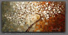 original gran árbol blanco Resumen rústico por ModernHouseArt