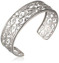 Sterling Silver Filigree Cuff Bracelet, 7.25' *** Learn more @ http://www.amazon.com/gp/product/B00H3WYCDO/?tag=finejewelry4u.com-20&pef=110716091209