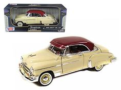 1950 Chevrolet Bel Air Cream 1/18 Model Car by Motormax >>> Read more at the image link. (This is an affiliate link) #GiftBaskets