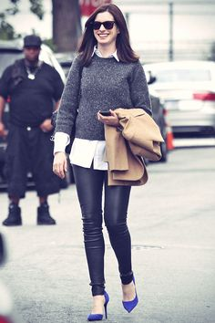I pretty much love everything Anne Hathaway wore in The Intern