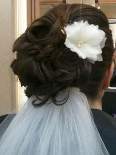 im now loving an updo with veil underneath look!