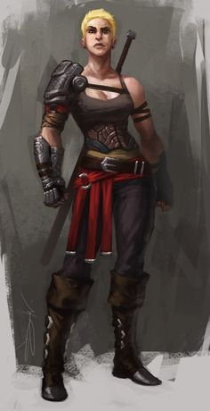 f Rogue Thief Leather Armor 2 Handed Sword traveler RPG Female Character Portraits : Photo Fantasy Races, High Fantasy, Fantasy Warrior, Medieval Fantasy, Woman Warrior, Fantasy Rpg, Female Character Design, Character Concept, Character Art