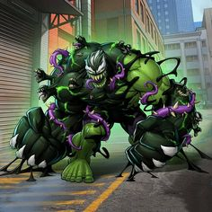 Patrick Brown Art and Digital Illustration - the Graphic Assembly Venom Comics, Marvel Venom, Marvel Comics Art, Marvel Heroes, Groot Comics, Captain Marvel, Hulk Art, Spiderman Art, Venom Spiderman