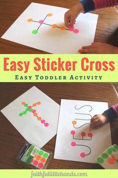 Sticker Cross Toddler Activity