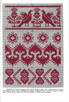 Cross Stitch Bird, Cross Stitch Borders, Simple Cross Stitch, Towel Embroidery, Ribbon Embroidery, Cross Stitch Embroidery, Loom Patterns, Craft Patterns, Knitting Patterns