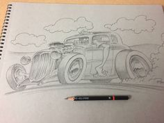 Pencil sketch by Ron Carroll