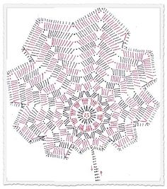 Awesome & Best Crochet Designs To Knit Right Now - Diy 4 Craft Free Crochet Doily Patterns, Crochet Placemats, Crochet Snowflake Pattern, Crochet Leaves, Crochet Diagram, Crochet Designs, Crochet Doilies, Crochet Flowers, Crochet Stitches