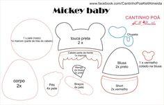 Boneco bebe Mickey