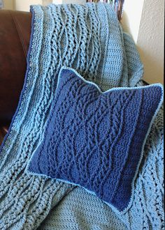 Ravelry: Elegant Braided Waves Pillow #crochet #pattern by Amy Price