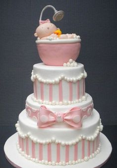 Gorgeous baby shower cake