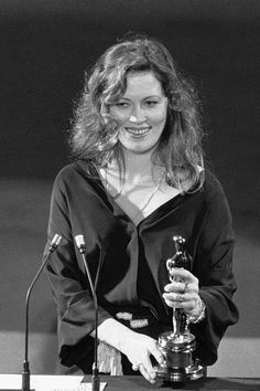 """49th Academy Awards® (1977) ~ Faye Dunaway won the Best Leading Actress Oscar for her performance in """"Network"""" (1976)"""