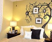 Vinyl Tree Wall Decal Wall Sticker Art Nursery Decal - Curly tree for Wall hangings - 02. $78.00, via Etsy.
