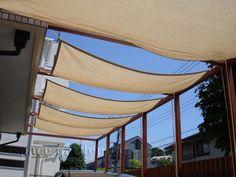 木製パーゴラ テラス屋根 日よけ タープ