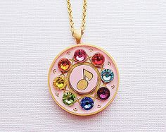 Maho Tap Dreamspinner Necklace from Ojamajo Doremi Fanart Inspired for Magical Girl and Mahou Kei Fan