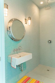 turquoise wet room | Bailey McCarthy of Biscuit Home