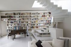 Stunning Storage Stair In Paris Loft Is Hung From Cables : TreeHugger