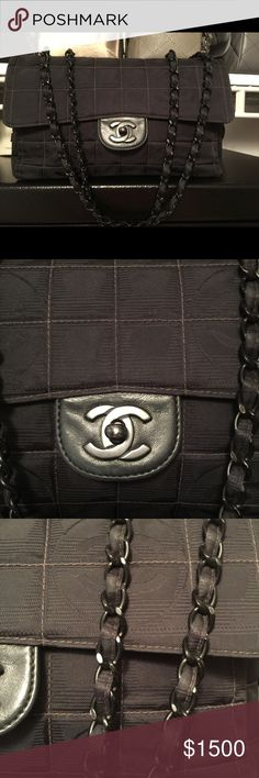 Gorgeous Chanel, travel addition 💯 authentic Perfect, beautiful bag for someone starting with Chanel. This bag has no stains, and no damages. Black 26cm x 15cm x 6 cm standard Chanel size. 💯 authentic, comes with authenticity card 💳 CHANEL Bags Shoulder Bags
