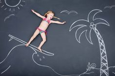 Do some fun chalk photography this spring/summer!