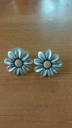 28bc40809 Retired Sunflower James Avery post earrings **RARE** #JamesAvery #Huggie