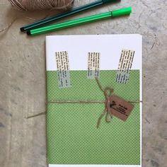 Quaderno *green wed* fatto a mano