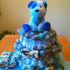 Diaper Cake With Cake Pops All Around Perfect For A Baby Shower Or Welcome Home