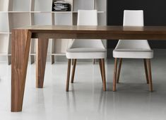 Plus Walnut Dining Table   Modern Dining Furniture   Modern Dining Tables