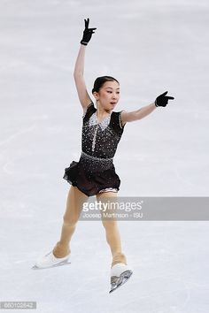 HELSINKI, FINLAND - MARCH 29: Elizabet Tursynbaeva of Kazakhstan competes in the Ladies Short Program during day one of the World Figure Skating Championships at Hartwall Arena on March 29, 2017 in Helsinki, Finland. (Photo by Joosep Martinson - ISU/ISU via Getty Images)