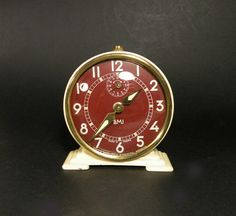 French vintage SMI alarm clock. mechanical clock. by LaBonneVie72