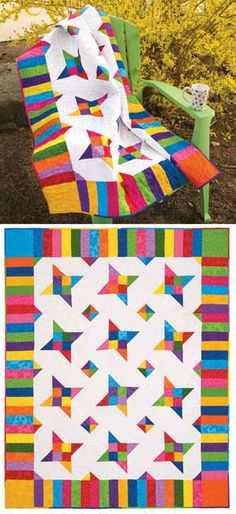 WHIRLYGIGS QUILT KIT  Beautiful colors!!