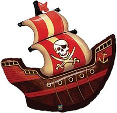 This pirate ship balloon will shiver your guests timbers with buccaneer fun.
