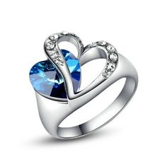 Yoursfs Personality Double Love Heart Of Ocean Crystal Engagement Ring Gold Plated (8) Yoursfs http://www.amazon.com/dp/B00JTSVR88/ref=cm_sw_r_pi_dp_36F6ub0CQEX89